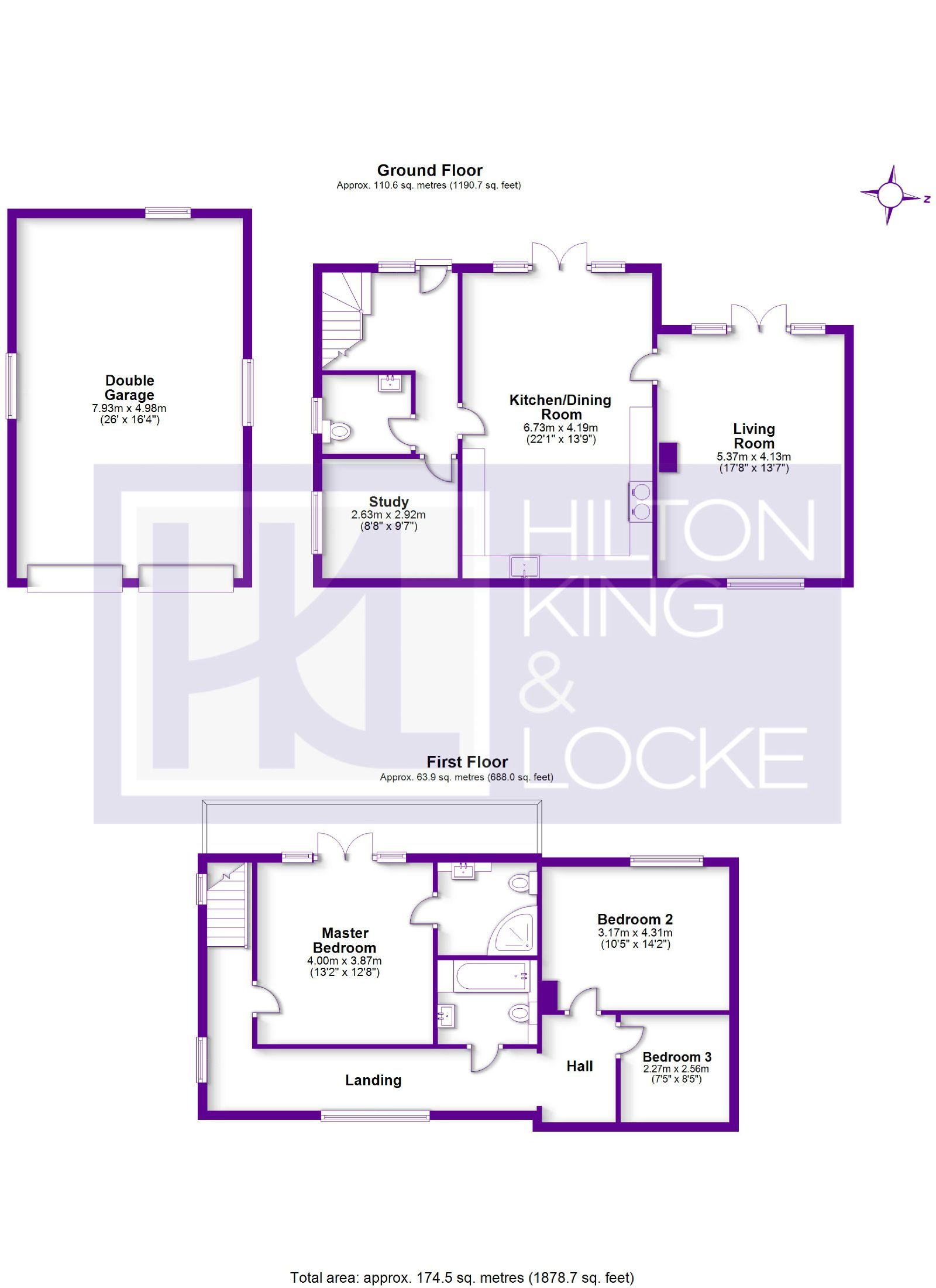 Floorplans For Love Lane, Iver, Buckinghamshire