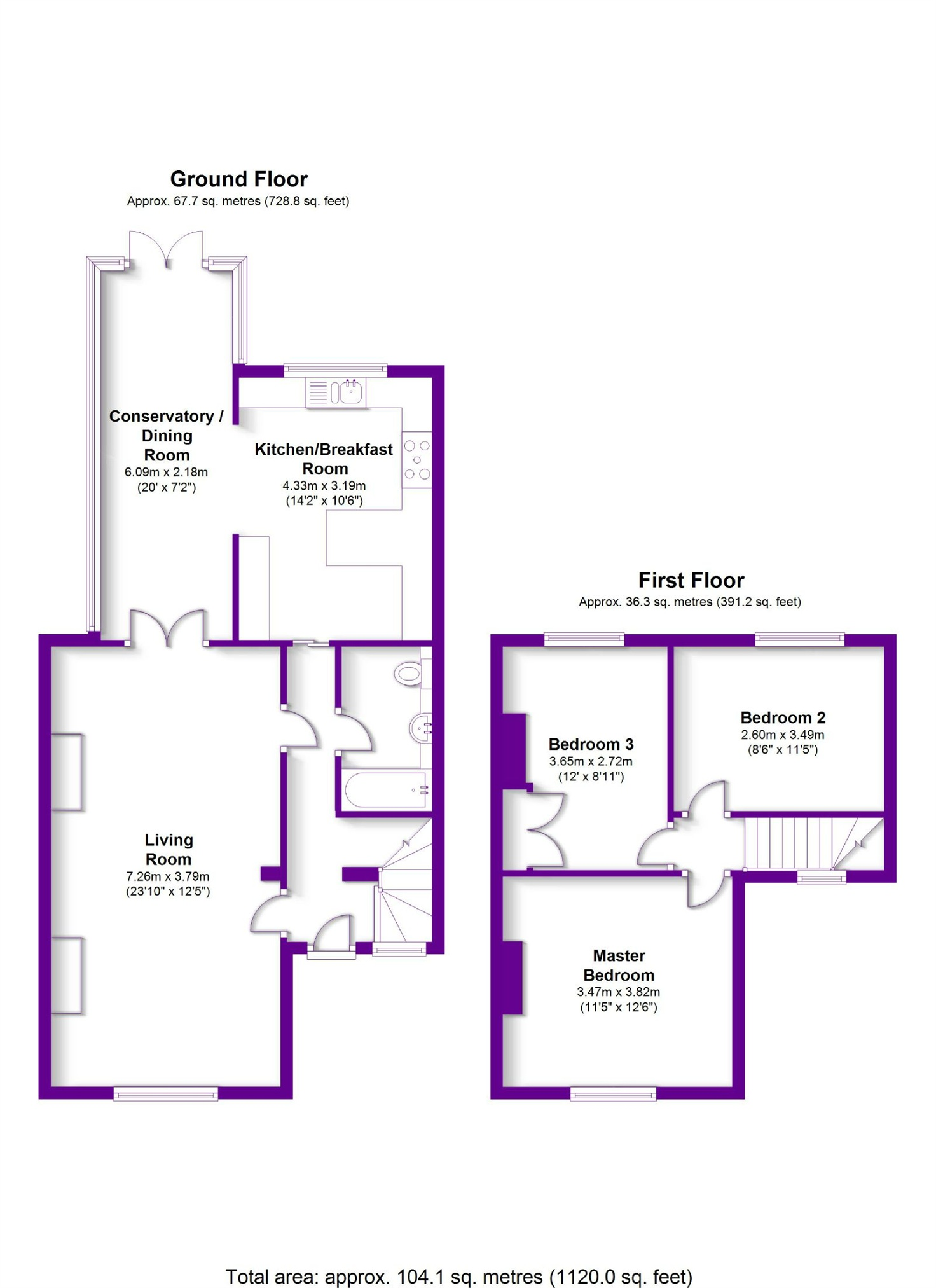 Floorplans For Market Lane, Iver, Berkshire